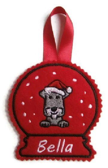Large Christmas Snow Globe Decoration - Dog Breed