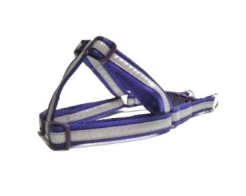 Reflective Step-In Dog Harness - Purple