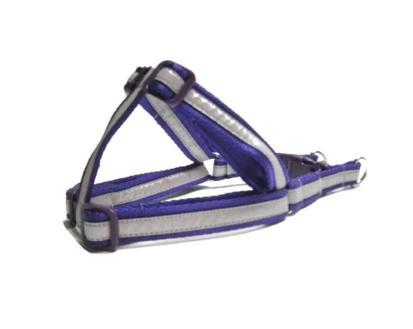 Reflective Step-In Dog Harness - Purple