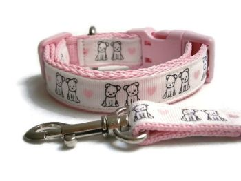 Puppy Love Collar & Lead set - Choice Of Colours