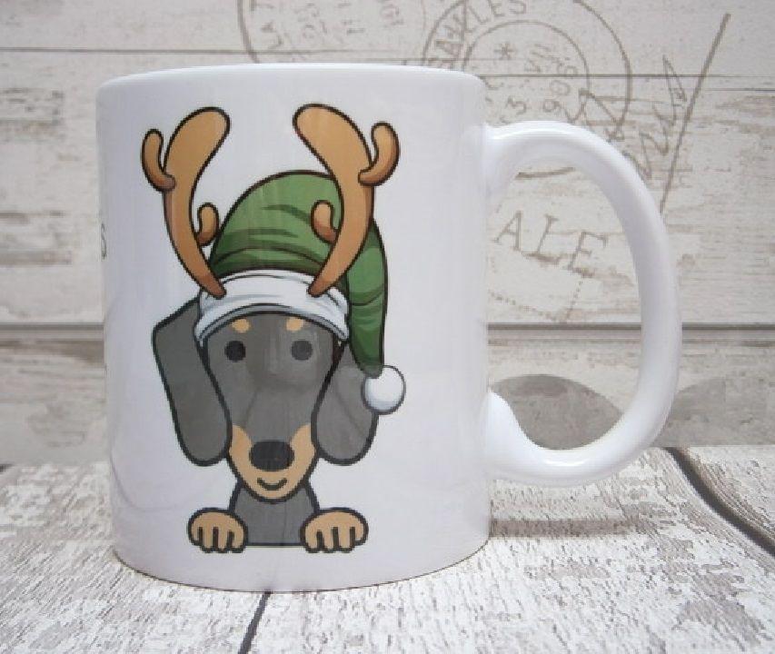 CHRISTMAS DOG BREED MUG