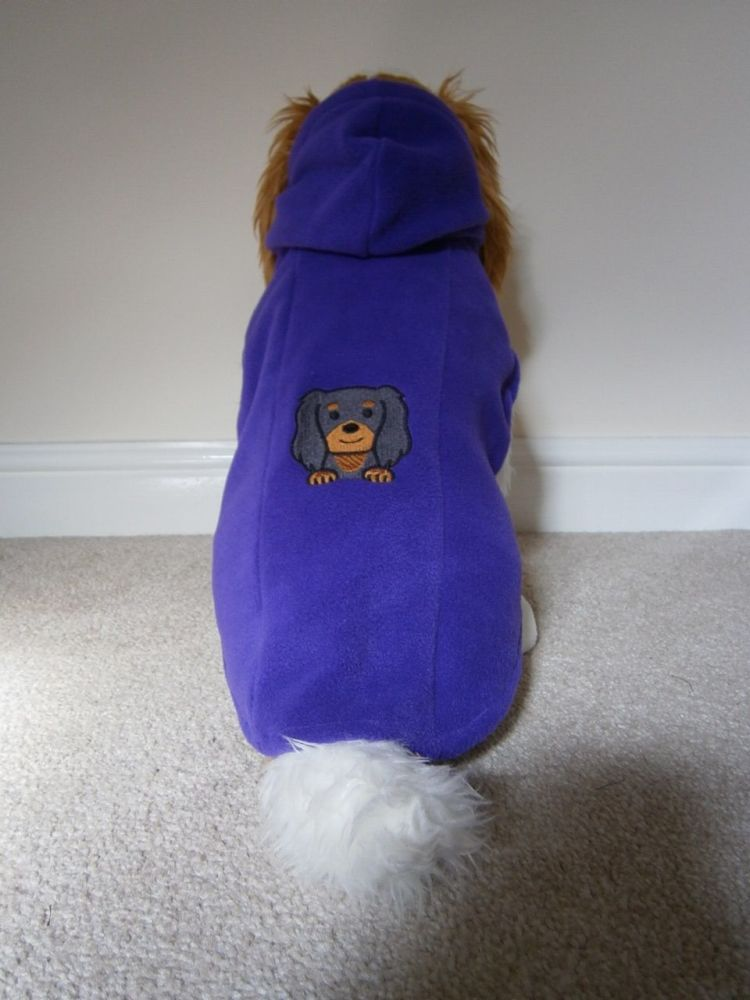 Fleece Dog Hoodie - with Dog Breed Face