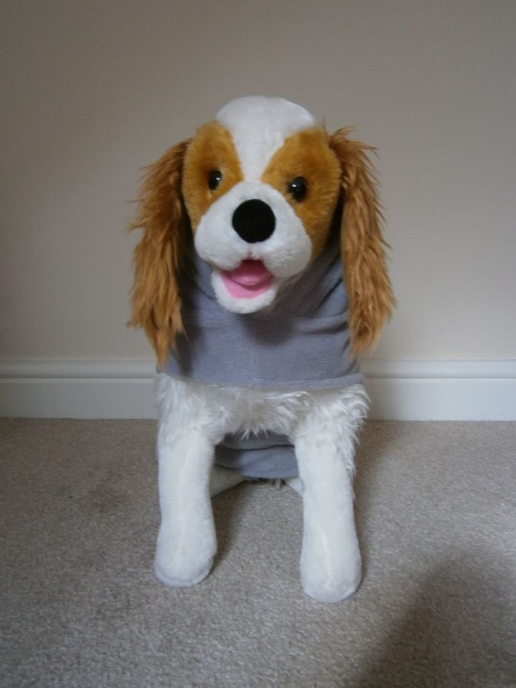Fleece Dog Hoodie - with Dog Breed Face & Name