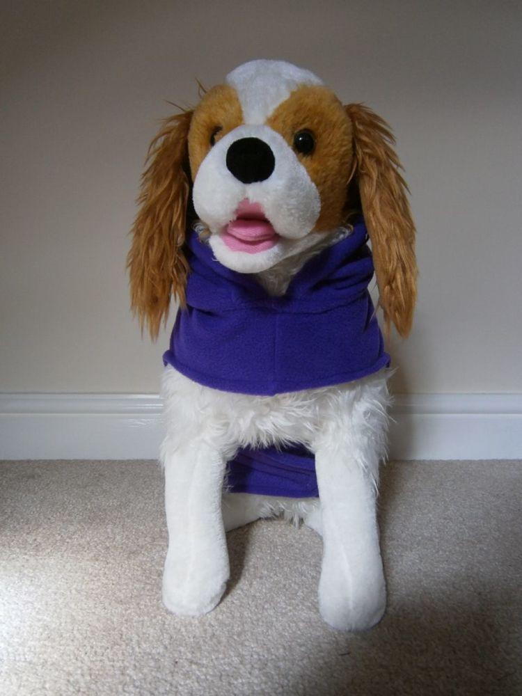 Fleece Dog Hoodie - with Name