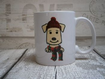 "Hat & Scarf ""Dog Breed"" Mug"