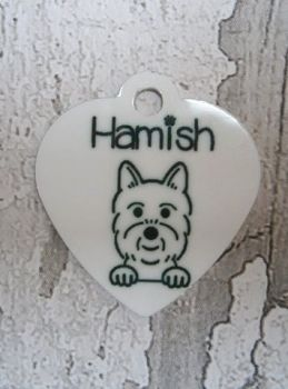 Dog Breed Tag with Name