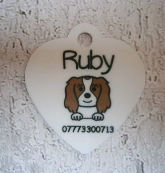 Dog Breed Tag with Name & Phone Number
