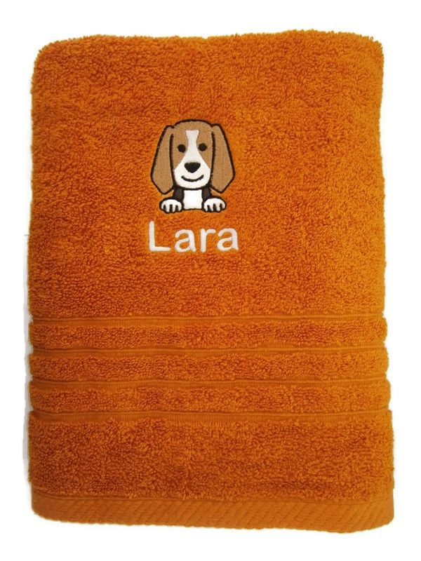 DOG BREED FACE Embroidered Towel
