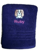 CAVALIER KING CHARLES SPANIEL Embroidered Towel