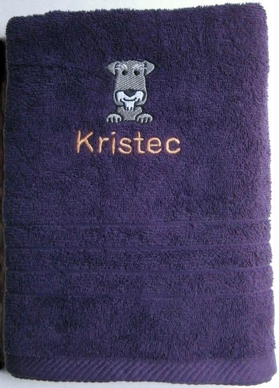 SCHNAUZER Embroidered Towel