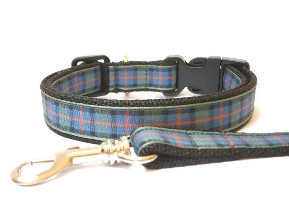 Flower of Scotland Collar & Lead set - Black