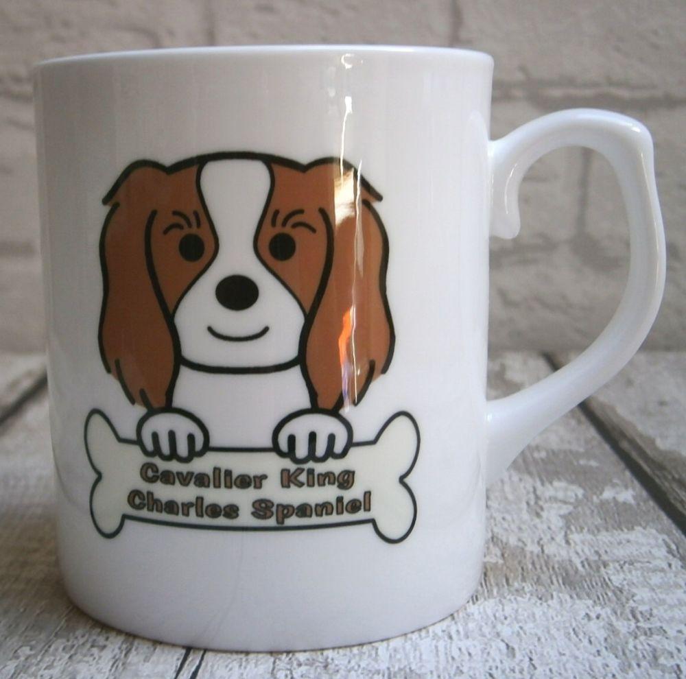 Cavalier King Charles Spaniel Mug - Bone China
