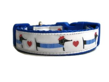 Dachshund & Heart Collar