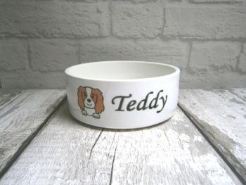"""A """"Dog Breed"""" Ceramic Feeding / Water Bowl"""