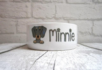 Dachshund Ceramic Feeding / Water Bowl