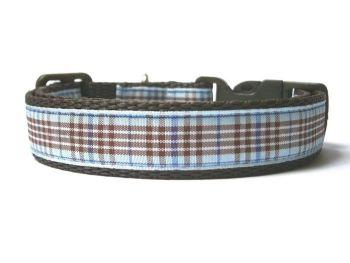 Blueberry Tartan Collar - Brown