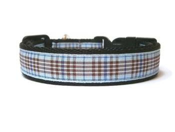 Blueberry Tartan Collar - Black