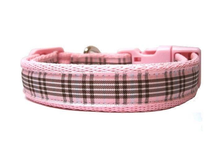 Raspberry Tartan Collar - Light Pink