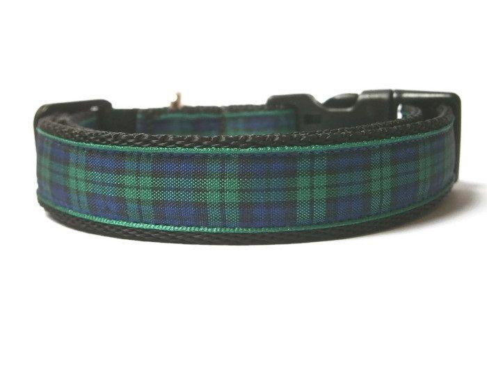 Blackwatch Tartan Collar - Black