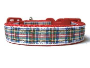 Dress Stewart Tartan Collar - Red