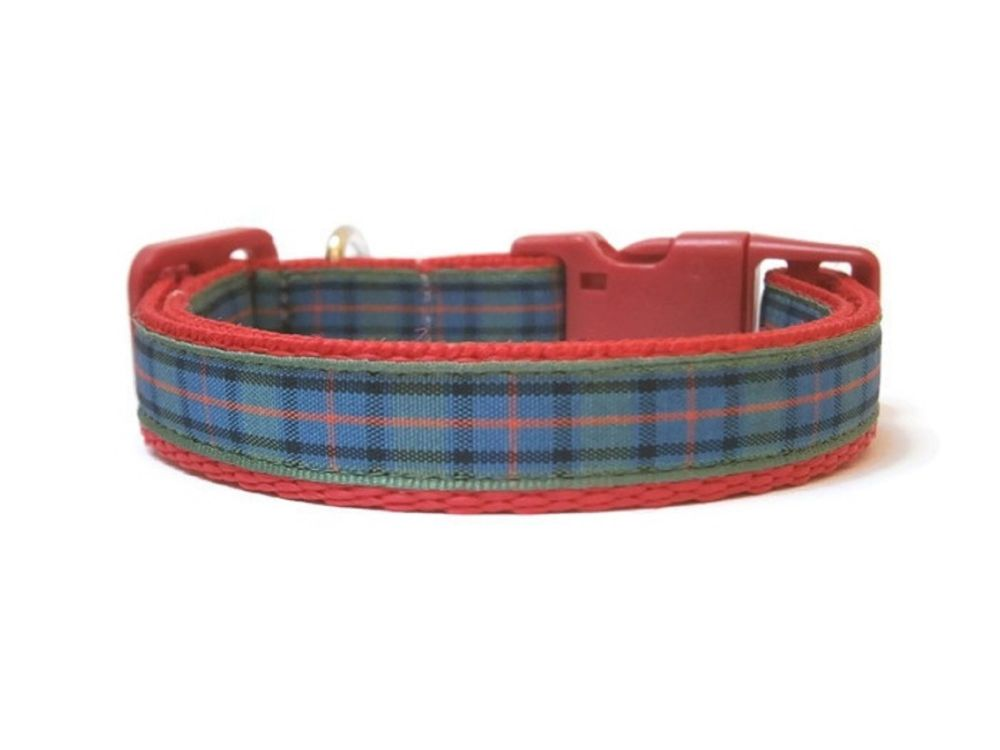 Flower Of Scotland Tartan Collar - Red