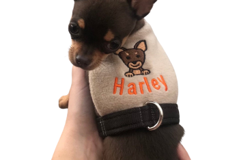 "A ""Dog Breed"" - Fleece Vest Harness"