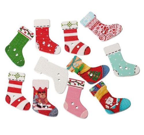 3cm Christmas Stocking Buttons