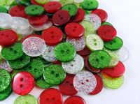 Christmas Mix Glitter Buttons