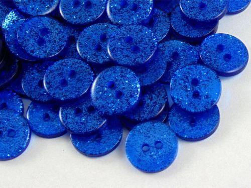Dark Blue Glitter Buttons