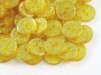 Gold Glitter Buttons