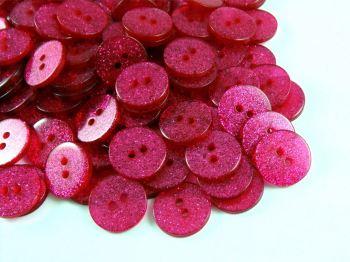 Hot Pink Glitter Buttons
