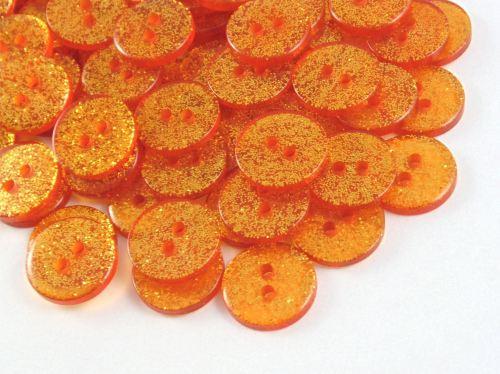 Orange Glitter Buttons