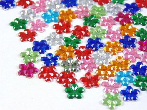 10mm Assorted Flower Rhinestone Gems