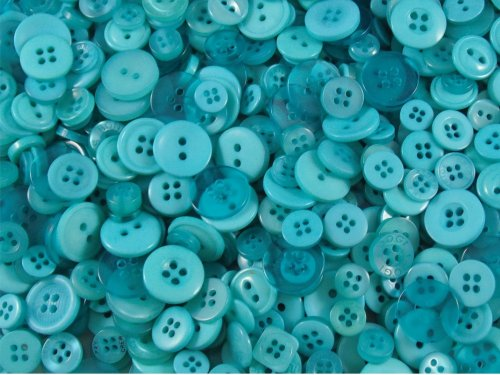 Aqua Small Mixed Buttons