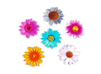 35mm Wooden Daisy Flower Buttons