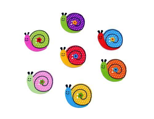 27mm Wooden Snail Buttons