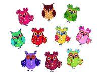 35mm Wooden Owl Buttons