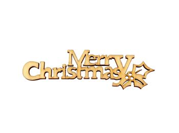"92mm x 24mm Wooden ""Merry Christmas"" Plaques"