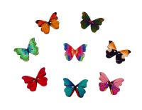 30mm Wooden Butterfly Buttons