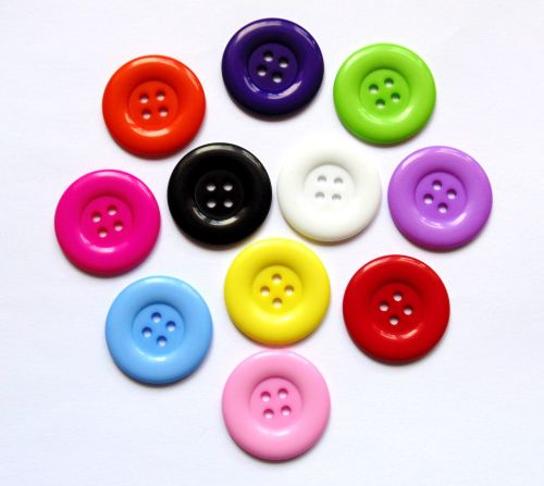 10 x 35mm Large Round 4 Holed Buttons