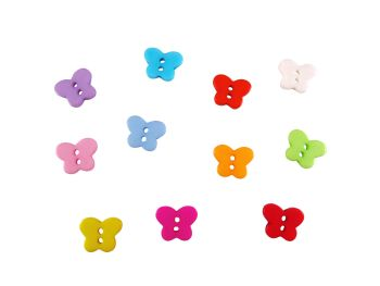 11mm Resin Butterfly Buttons