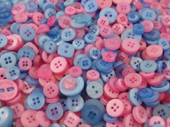 Bubblegum Small Mixed Buttons