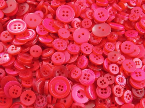 Red Small Mixed Buttons