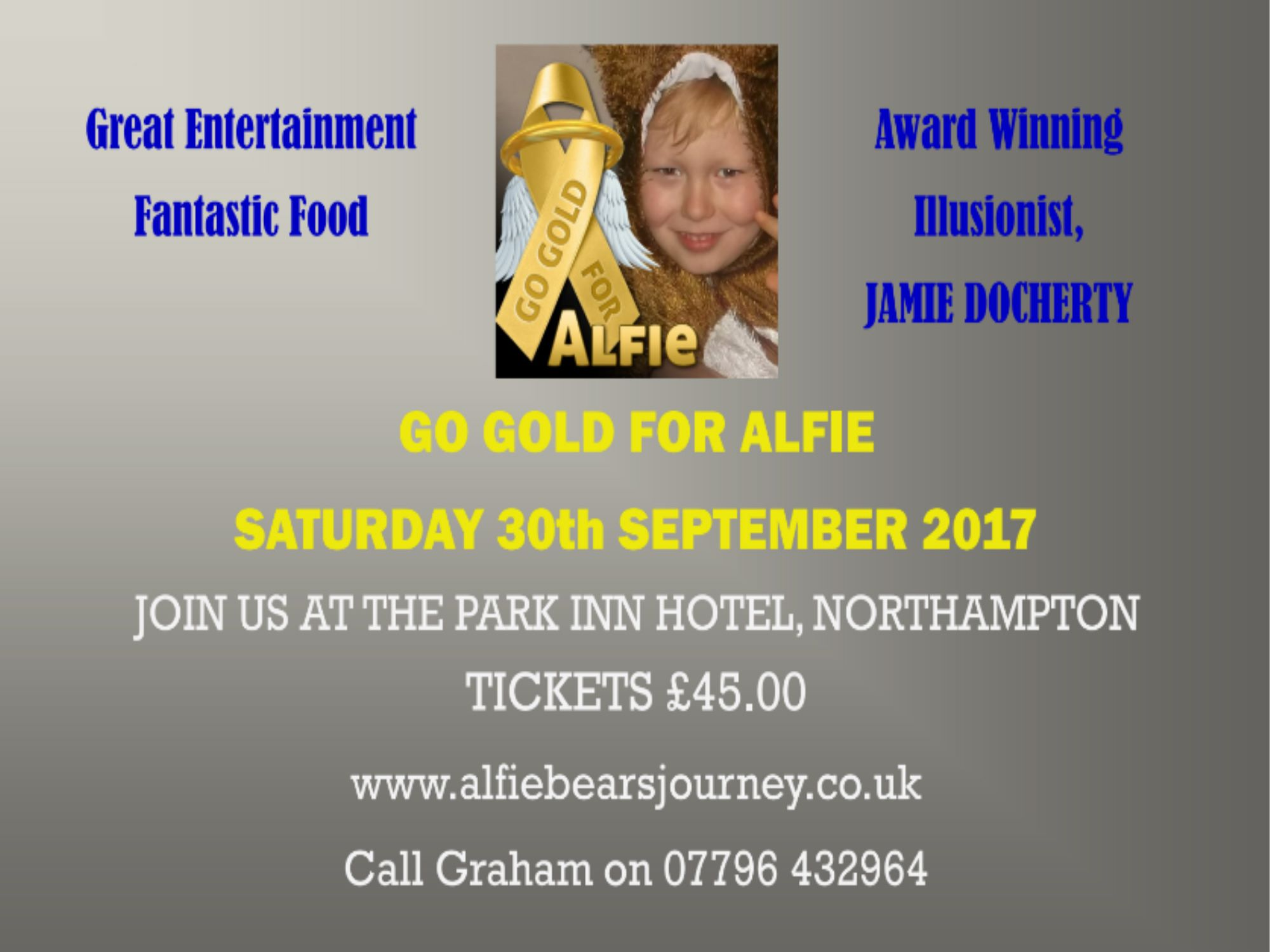 Go Gold For Alfie Charity Dinner 2017