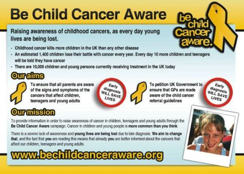 be child cancer aware vards