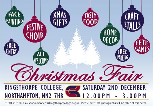 Christmas Fair Flyer 2017