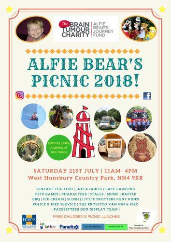 Alfie Bears Picnic Poster 2018