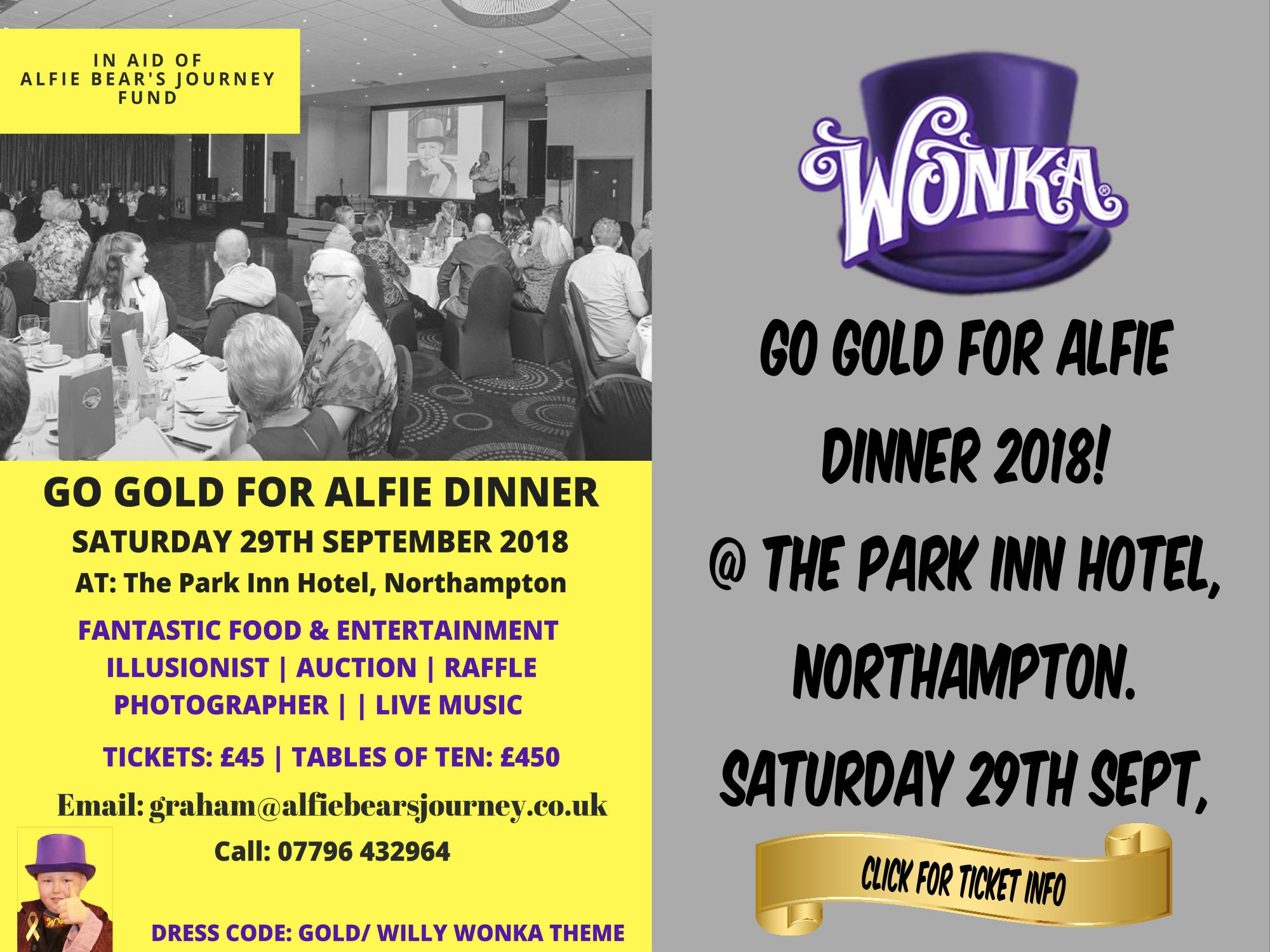 Go Gold for Alfie Dinner 2018