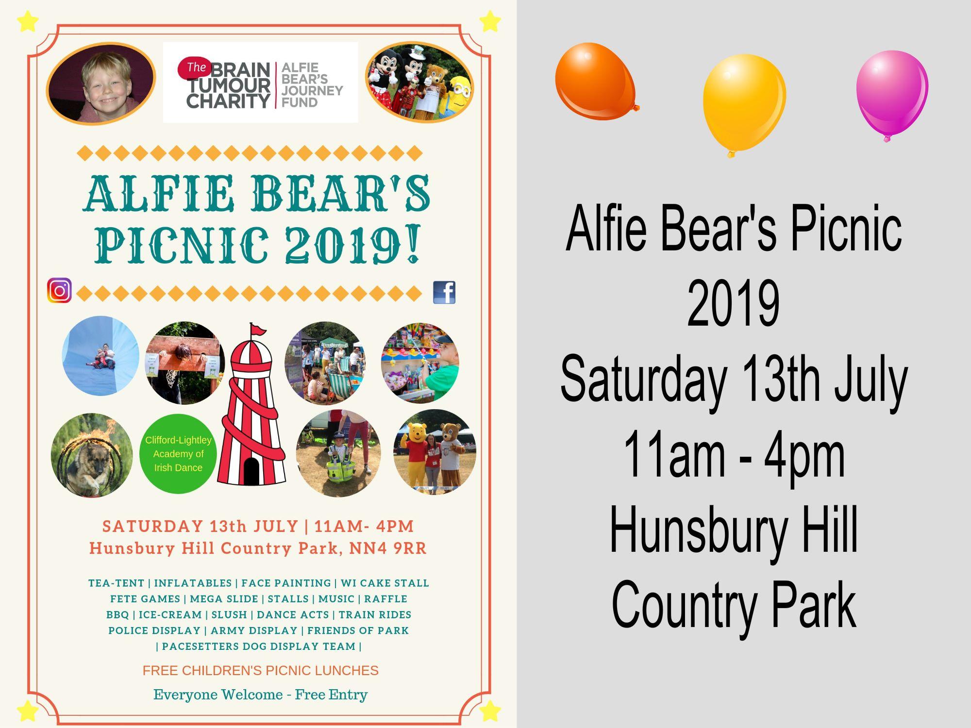 Alfie Bear's Picnic 2019