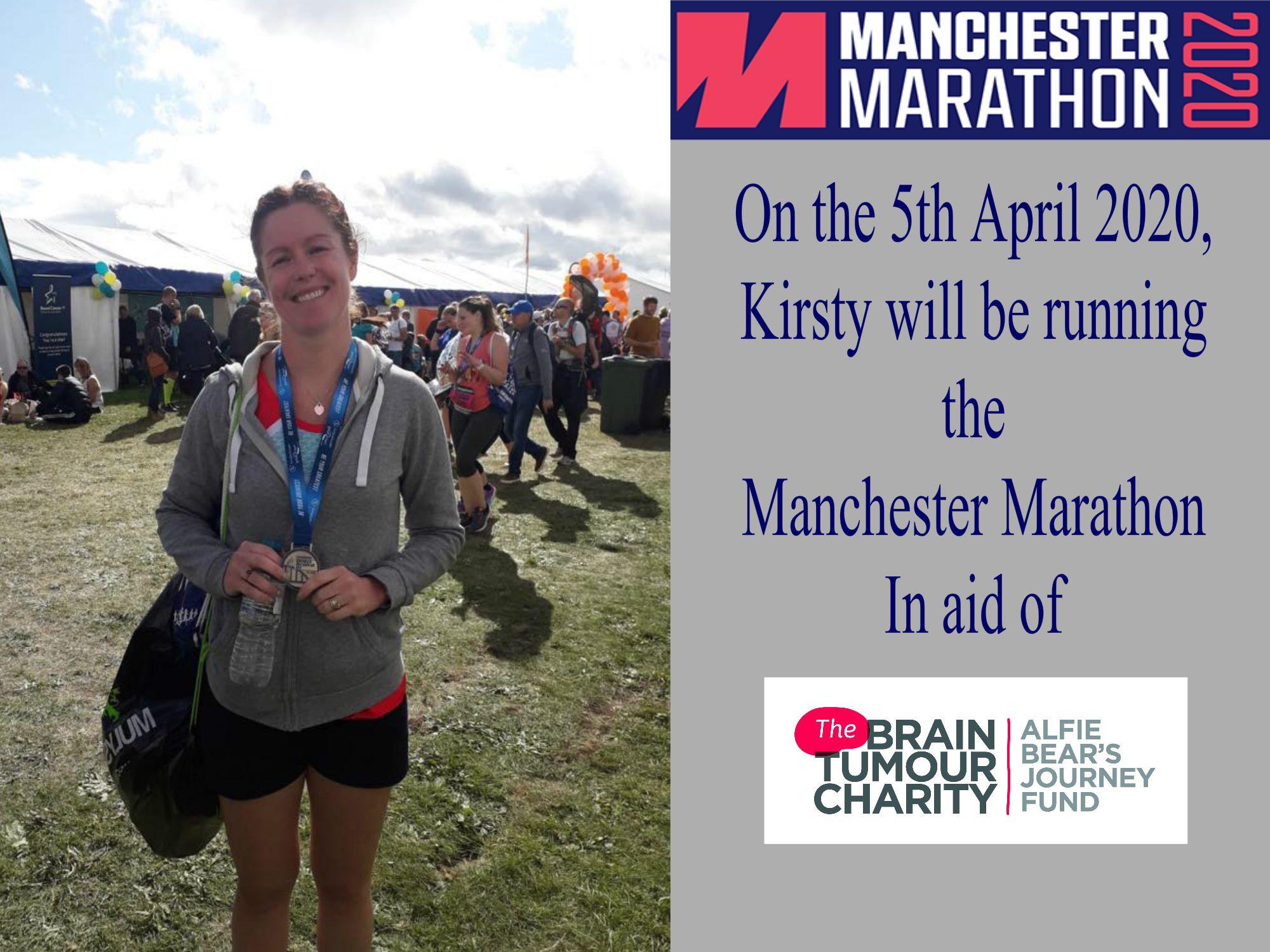 Kirsty's Manchester Marathon 2020